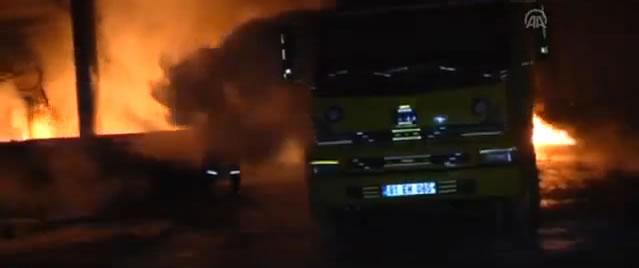 Düzce'de Plastik Fabrikasında Yangın