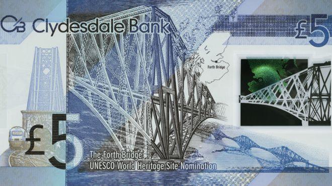 İskoç bankası plastik 5 sterlini piyasaya sürdü