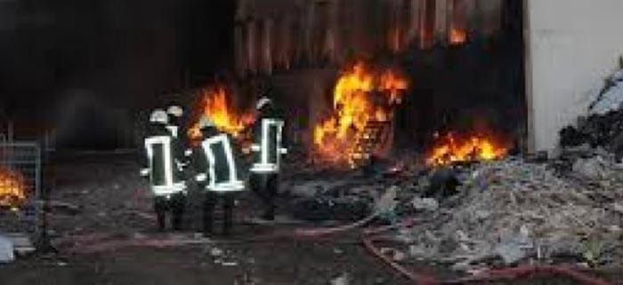 Plastik dönüşüm fabrikasında yangın
