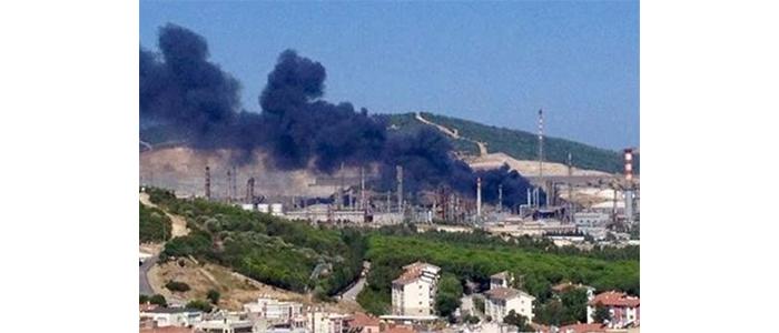 Aliağa Tüpraş'ta yangın
