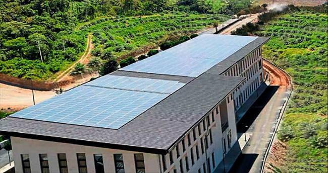 Güneşten enerji üreten ilk üniversite HKÜ