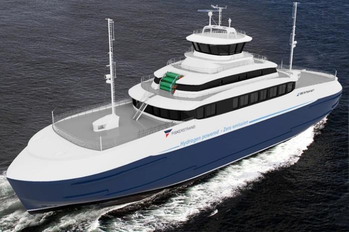 Norveç merkezli Fiskerstrand, hidrojen yakıt hücreli feribot inşa edecek