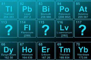 iupac onerilen yeni element isimlerini duyurdu 310x205 - IUPAC Önerilen Yeni Element İsimlerini Duyurdu