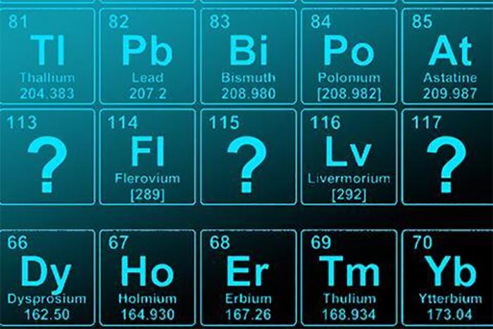 IUPAC Önerilen Yeni Element İsimlerini Duyurdu