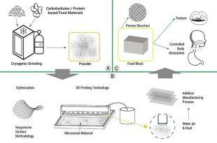 arastirmacilar 3d baski teknolojisinin yardimiyla kisisellestirilmis gidalar uretiyor 310x205 - Araştırmacılar 3D Baskı Teknolojisinin Yardımıyla Kişiselleştirilmiş Gıdalar Üretiyor
