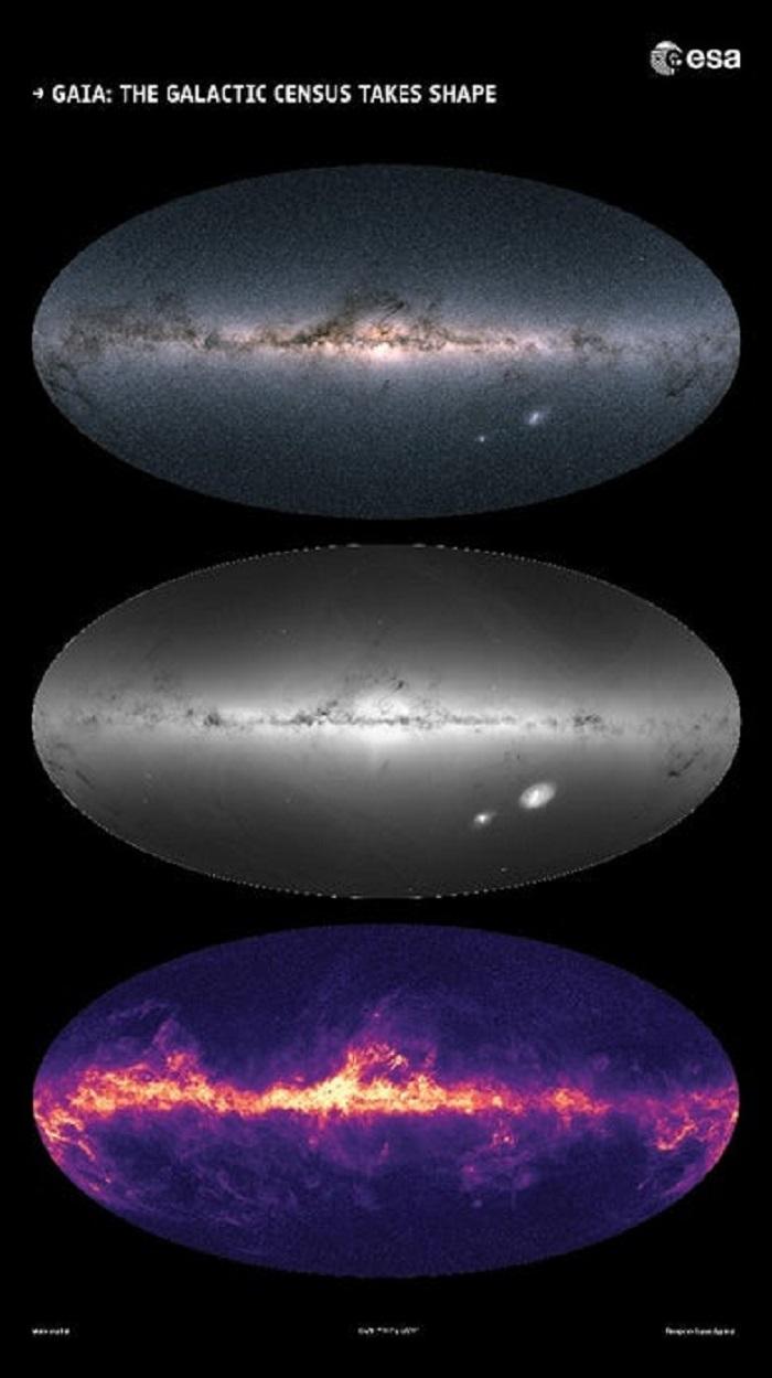 Gaia Samanyolu'nu 1.7 Milyar Yıldızla Haritalıyor