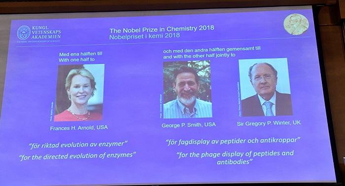 2018 Nobel Kimya Ödülünü Kazanan İsimler Belli Oldu