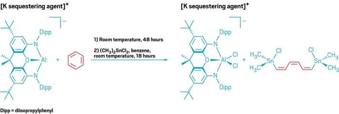 Alüminyum Kompleksi Açık Benzen Halkası ile Yanma Tepkimesine Giriyor
