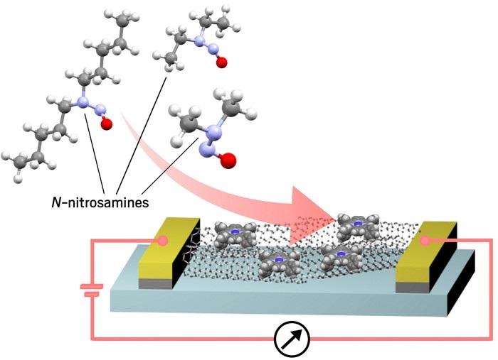 Karbon Nanotüp Sensörü Havadaki Nitrozaminleri Algılıyor