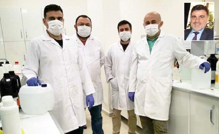 Üniversite Kimya Bölümü'nde 3.250 Litre Dezenfektan Üretildi