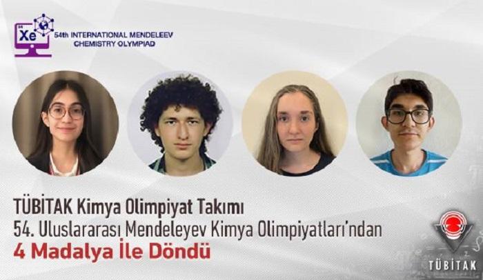 TÜBİTAK Kimya Olimpiyat Takımı'ndan Büyük Başarı