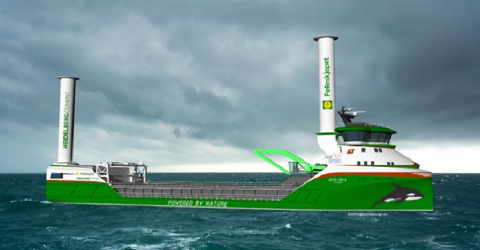 Dünyanın İlk Sıfır Emisyonlu Rüzgar ve Hidrojen Tahrikli Kargo Gemisi