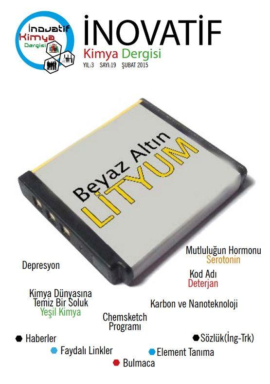 İnovatif Kimya Dergisi Sayı-19