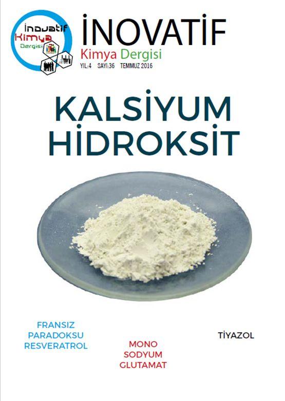 İnovatif Kimya Dergisi Sayı-36